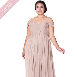 Dusty Rose AJA bridesmaids dress